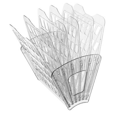 Многосекций лоток для бумаг Стамм ЛТ97, А4, 275х365х325 мм, 6 секций, прозрачный