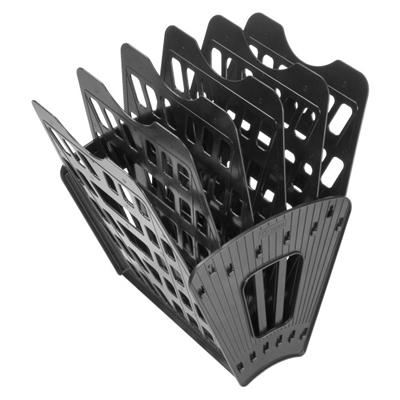 Многосекций лоток для бумаг Стамм ЛТ96, А4, 275х365х325 мм, 6 секций, черный
