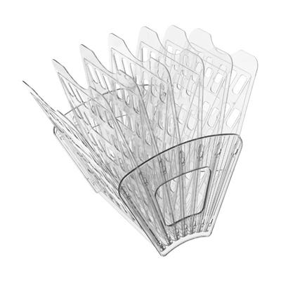 Многосекций лоток для бумаг Стамм ЛТ43, А4, 275х365х325 мм, 7 секций, прозрачный