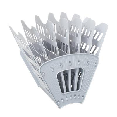 Многосекций лоток для бумаг Стамм ЛТ40, А4, 275х365х325 мм, 7 секций, серый