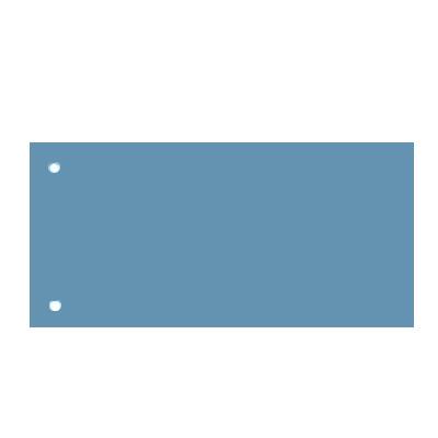 Разделительные полоски Brunnen, 240х105 мм, 100 разделов, синий, 66040-30