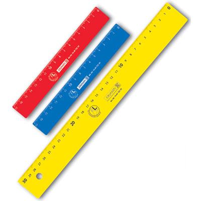 Линейка для левши Brunnen, 30см, 49725-30, желтый