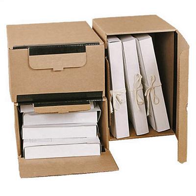 Архивный короб Промтара Офис Стандарт 341, 380х280х170 мм, бежевый
