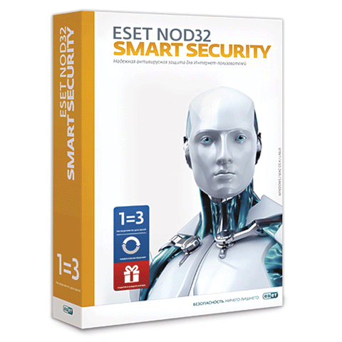 Антивирус ESET NOD32 Smart Security Bonus, 3ПК/1год