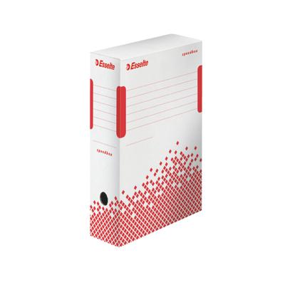 Архивный бокс Esselte Speedbox Fast-Assembly 623908, 100 мм, белый-красный