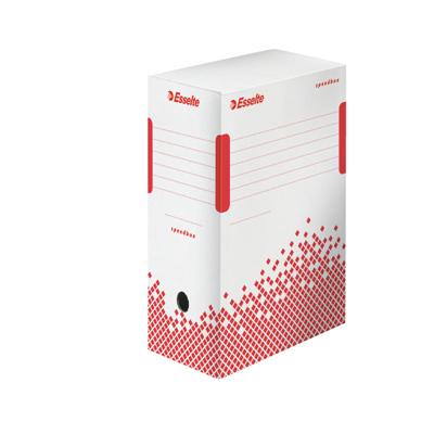 Архивный бокс Esselte Speedbox Fast-Assembly 623909, 150 мм, белый-красный
