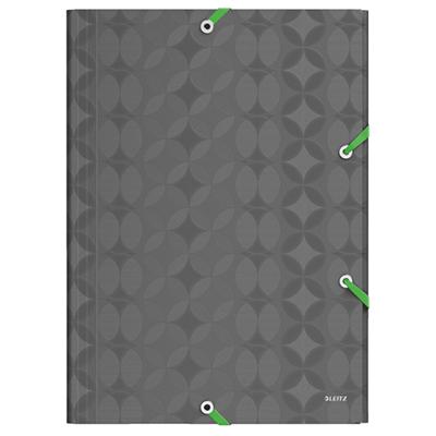 Пластиковая папка на резинке Leitz Retro Chic 45190089, A4, 38мм, серая