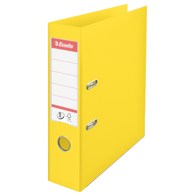 Папка-регистратор А4 Esselte Vivida Plus 624070, 75мм, желтая
