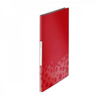 Папка файловая Leitz Bebop 45640025, на 20 файлов, А4, красная