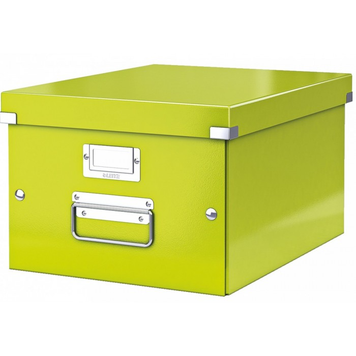 Архивный короб Leitz Click & Store-Wow 60440064, A4, 369x281x370 мм, зеленый