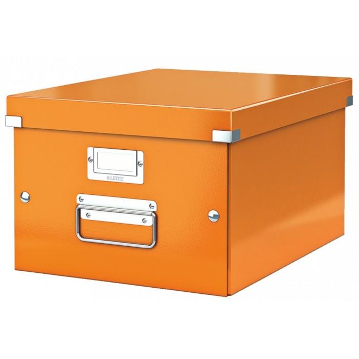 Архивный короб Leitz Click & Store-Wow 60440044, A4, 369x281x370 мм, оранжевый