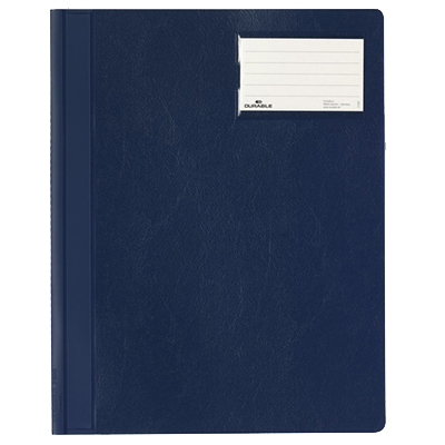 Скоросшиватель пластиковый Durable 250007, А4+, синий, 2500-07