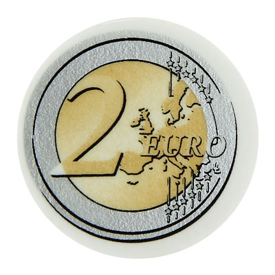 Ластик Brunnen Евро, 30мм, 29988,белый, круглый, 32шт.