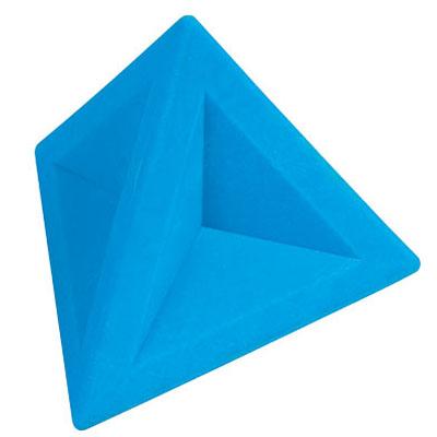Ластик Brunnen 29974, 4,5х4,5х4см, треугольный, голубой