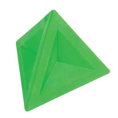 Ластик Brunnen 29974, 4,5х4,5х4см, треугольный, зеленый