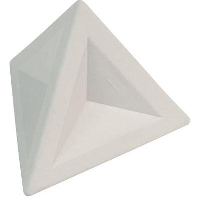Ластик Brunnen 29974, 4,5х4,5х4см, треугольный, белый