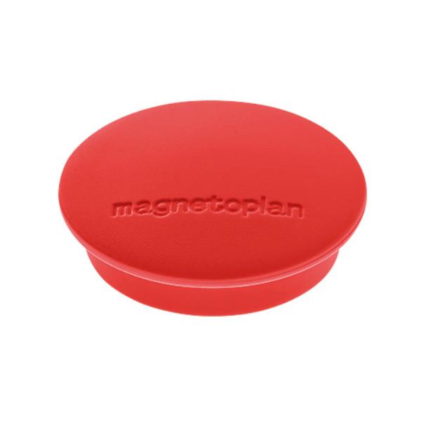 Магниты для магнитной доски Magnetoplan Junior 1662106, d=34мм, красные, 10шт/уп