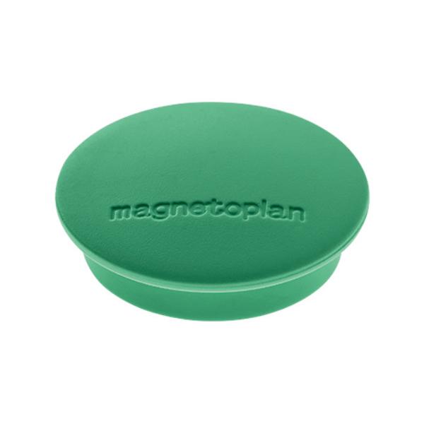 Магниты для магнитной доски Magnetoplan Junior 1662105, d=34мм, зеленые, 10шт/уп