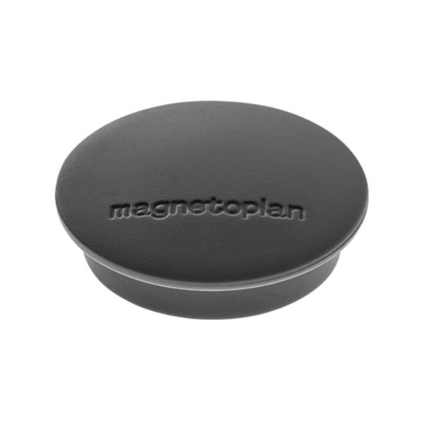Магниты для магнитной доски Magnetoplan Junior 1662112, d=34мм, черные, 10шт/уп
