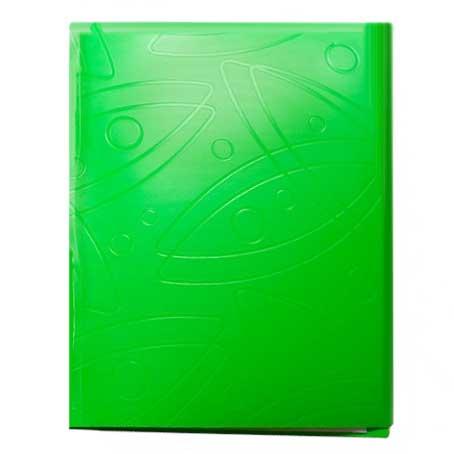 Папка с зажимом Бюрократ Galaxy GA07CLETT, А4, 0,7мм, салатовая