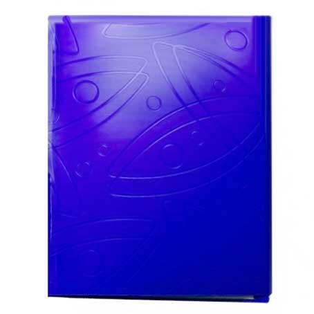 Папка с зажимом Бюрократ Galaxy GA07CBLUE, А4, 0,7мм, синяя