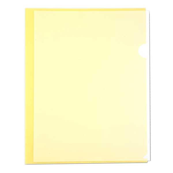 Папка-уголок Бюрократ00YEL, A4, 100мкм, желтая