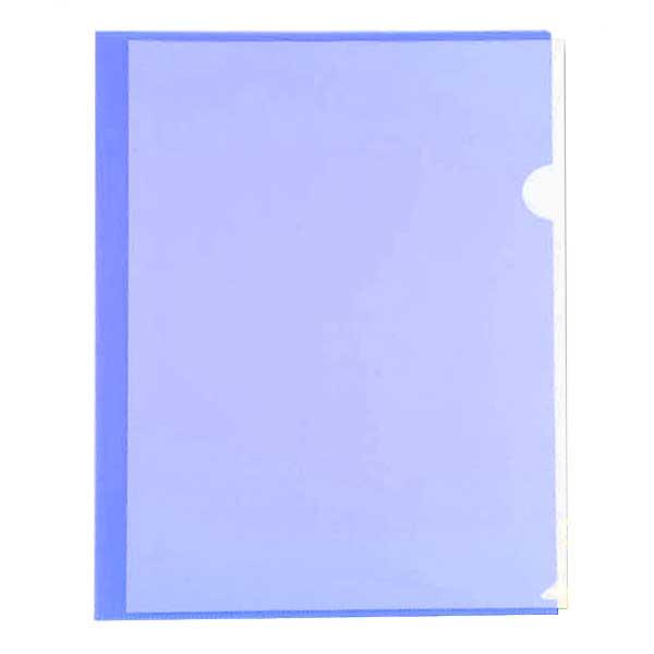 Папка-уголок Бюрократ A4 100мкм, синяя