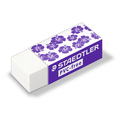 Ластик Staedtler для карандаша 43х19х13, 525B30TL1, белый