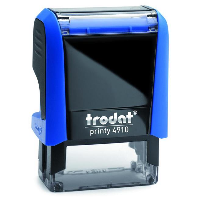 Оснастка для прямоугольной печати Trodat Printy 4910, 26х9мм, синяя