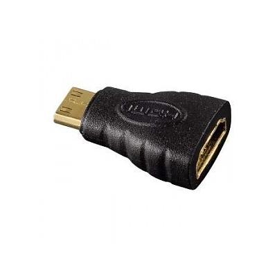 Адаптер Hama, HDMI-mini-HDMI (m-f), черный