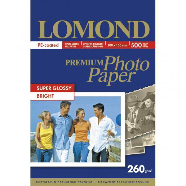 Суперглянцевая микропористая фотобумага, ярко-белый цвет, A6, 500л
