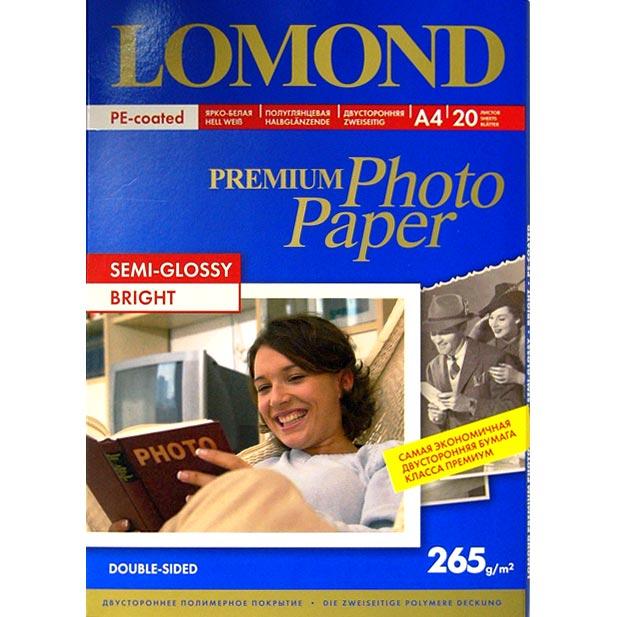 Микропористая фотобумага Lomond, ярко-белый цвет, A4, 20 л