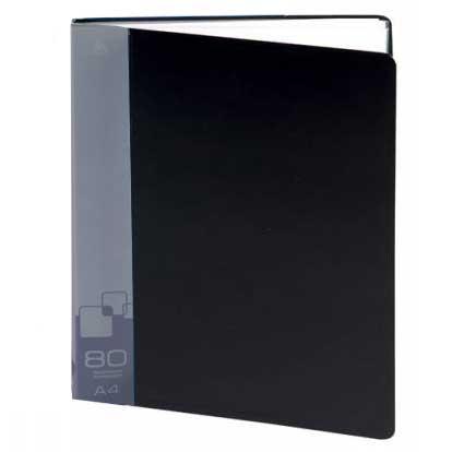 Папка файловая Бюрократ BPV80BLCK, на 80 файлов А4,черная