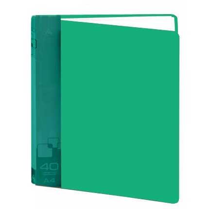 Папка файловая Бюрократ BPV40GRN, на 40 файлов, А4, зеленая