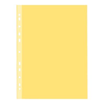 Файл-вкладыш А4 Бюрократ Премиум, 30мкм, глянцевый, желтый, 50 шт/уп