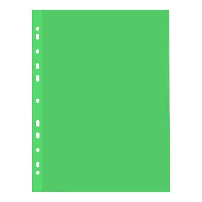 Файл-вкладыш А4 Бюрократ Премиум, 30мкм, глянцевый, зеленый, 50 шт/уп