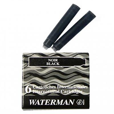 Картридж для перьевой ручки Waterman International S0110940, черный, 6шт