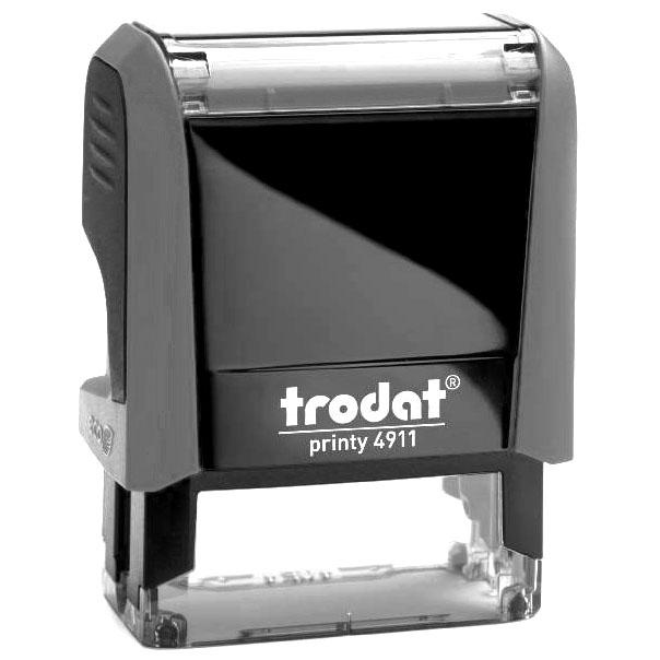 Оснастка для прямоугольной печати Trodat Printy 4911, 38х14мм, серая