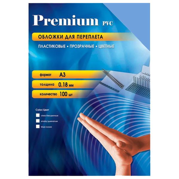 Обложки для переплета пластиковые Office Kit PBA300180, А3, 180 мкм, синие, 100 шт