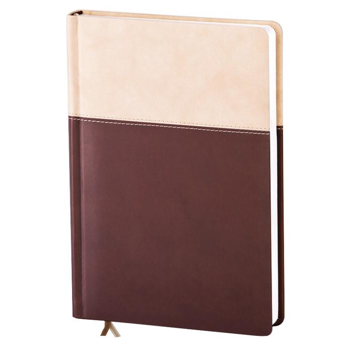 Ежедневник недатированный InFolio Patchwork, А5, 14 х 20см, 160 листов, коричневый