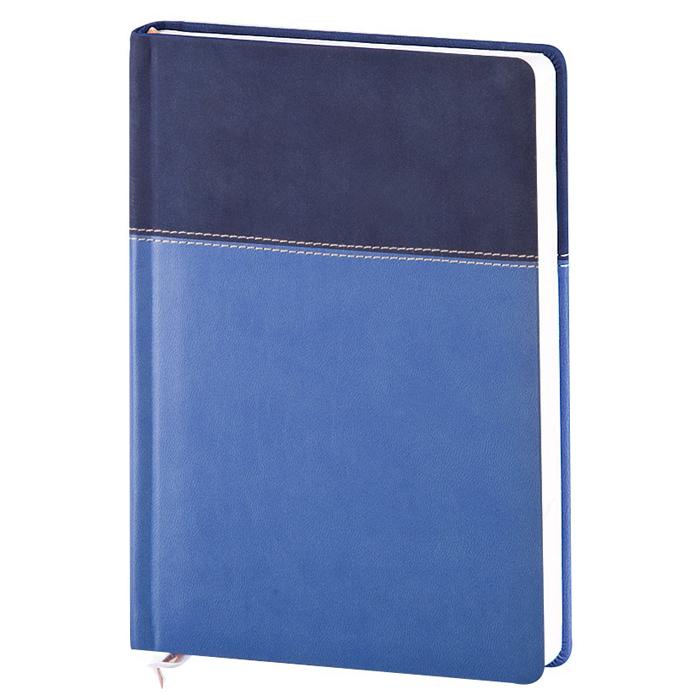 Ежедневник недатированный InFolio Patchwork, А5, 14 х 20см, 160 листов, синий