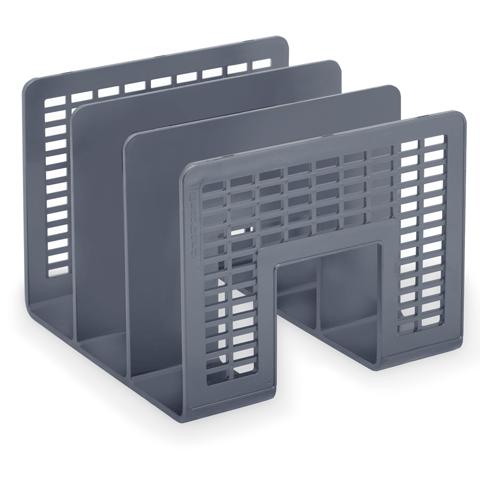 Многосекционный накопитель для бумаг Brauberg Radikal 235365, 3 секции, серый