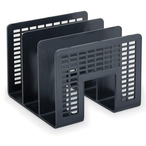 Многосекционный накопитель для бумаг Brauberg Radikal 235364, 3 секции, черный