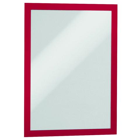 Настенная магнитная рамка Durable Magaframе 487203, А4, красная, самоклеящаяся, 2шт/уп, 487203