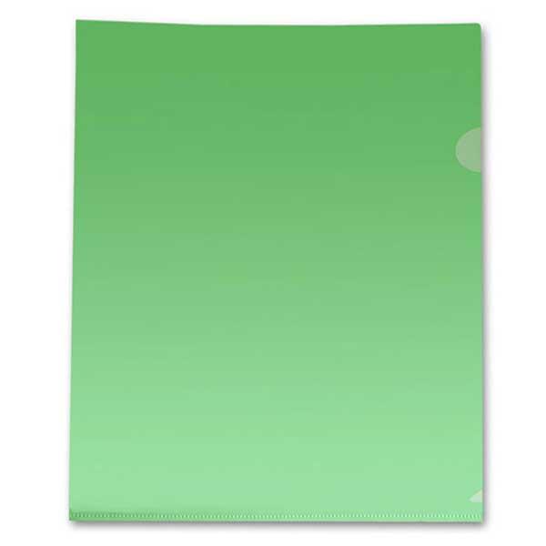 Папка-уголок Бюрократ A4, 100мкм, зеленая