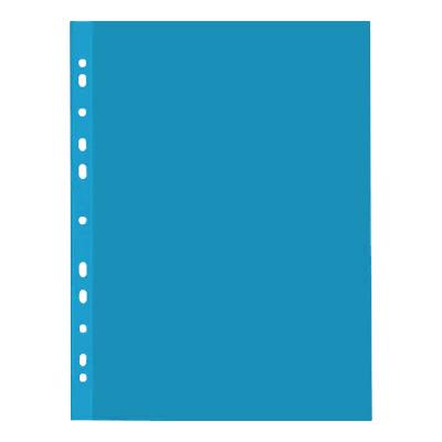 Файл-вкладыш А4 Бюрократ Премиум, 30мкм, глянцевый, голубой, 50 шт/уп
