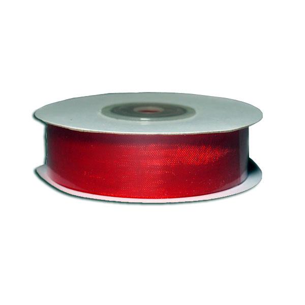 Лента упаковочная, шифоновая 1,8см х 22м, красный