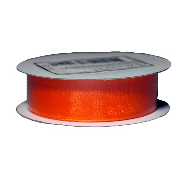 Лента упаковочная, шифоновая 1,8см х 22м, оранж