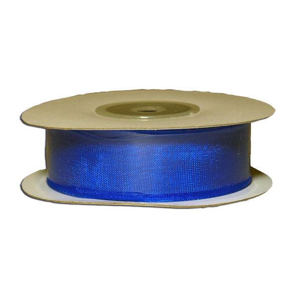 Лента упаковочная, шифоновая 1,8см х 22м, синий