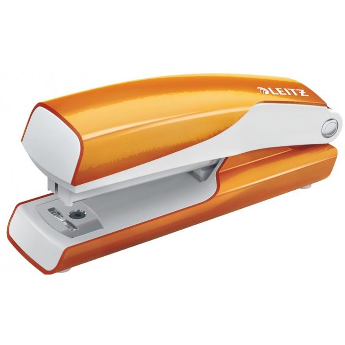 Мини-степлер Leitz WOW NeXXt, № 10, 10л, оранжевый металлик